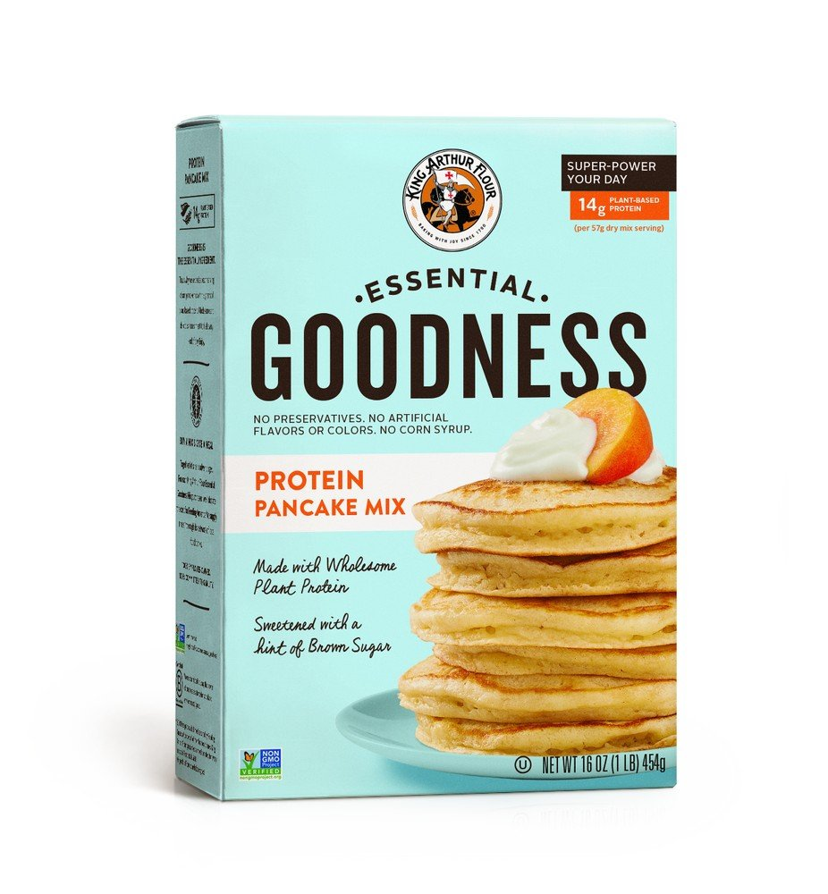 King Arthur Flour Protein Pancake Mix, Non-GMO, 6 Count by King Arthur Flour