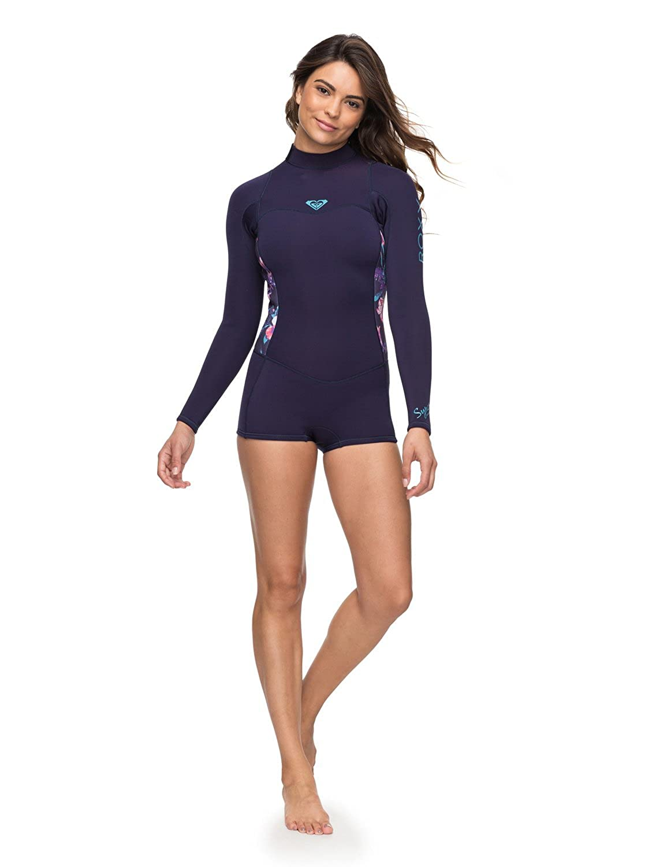 Long Sleeve Back Zip FLT Springsuit for Women Roxy 2//2mm Syncro Series