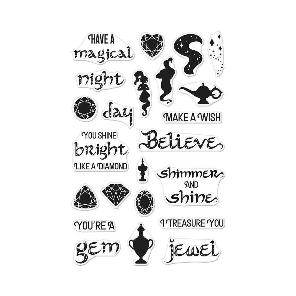 Multicolor Hero Arts CM222 4 x 6 Magical Nights Messages Clear Stamps