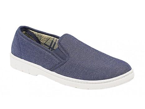 Gordini - Mocasines de tejido para hombre, color azul, talla 9
