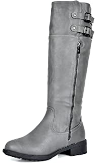 b6abc489f52 DREAM PAIRS Women s Knee High and up Riding Boots (Wide-Calf)