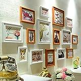 ZYANZ Irregular Solid Wood Combination Photo Frame, Rectangular (15 Packs), Estimated Area Of 164 × 85cm