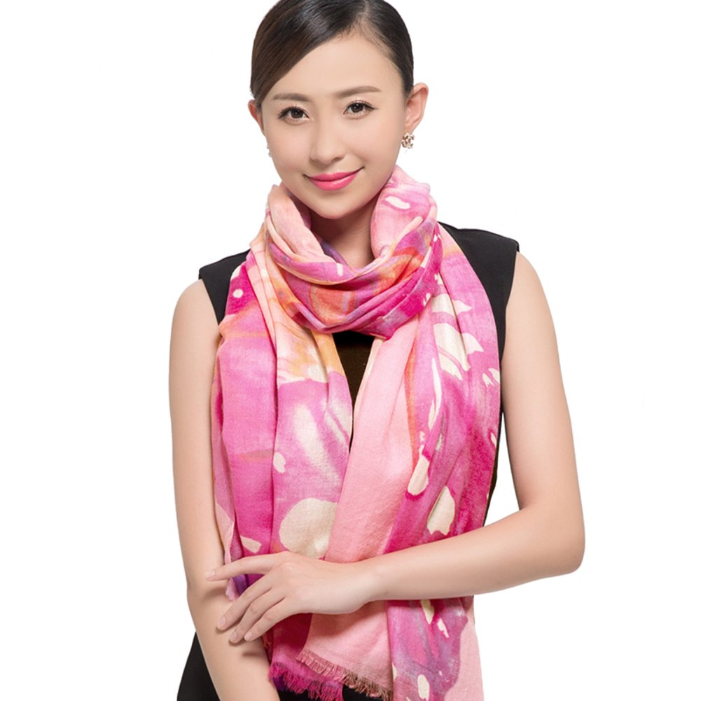 Scarf/Shawl/Dual-use hand-painted scarves for fall/winter-C One Size