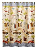 Gone-Surfing-Bathroom-Shower-Curtain-Tiki-Hooks-Flip-Flop-Rug-and-Surfboard-Towel-Bundle