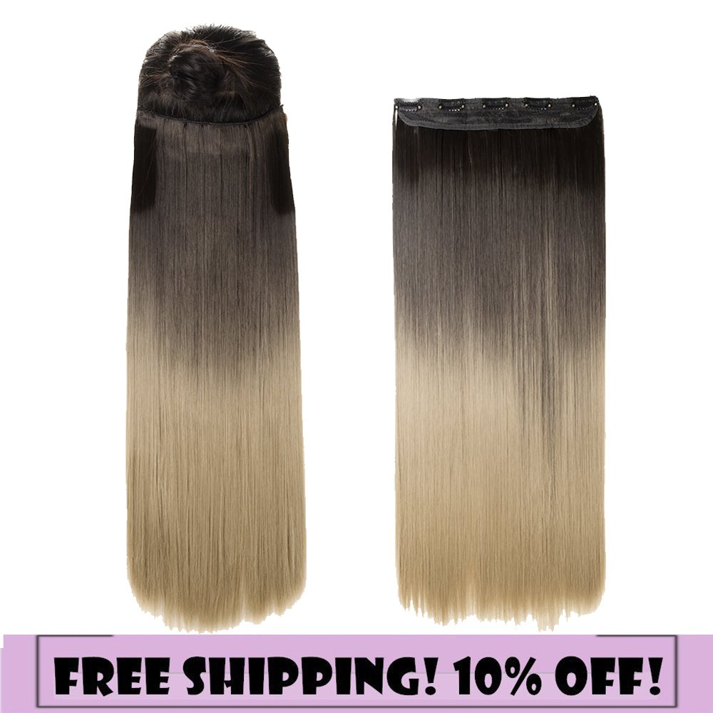 Amazon S Noilite One Piece Clip In Hair Extensions Ombre Dip