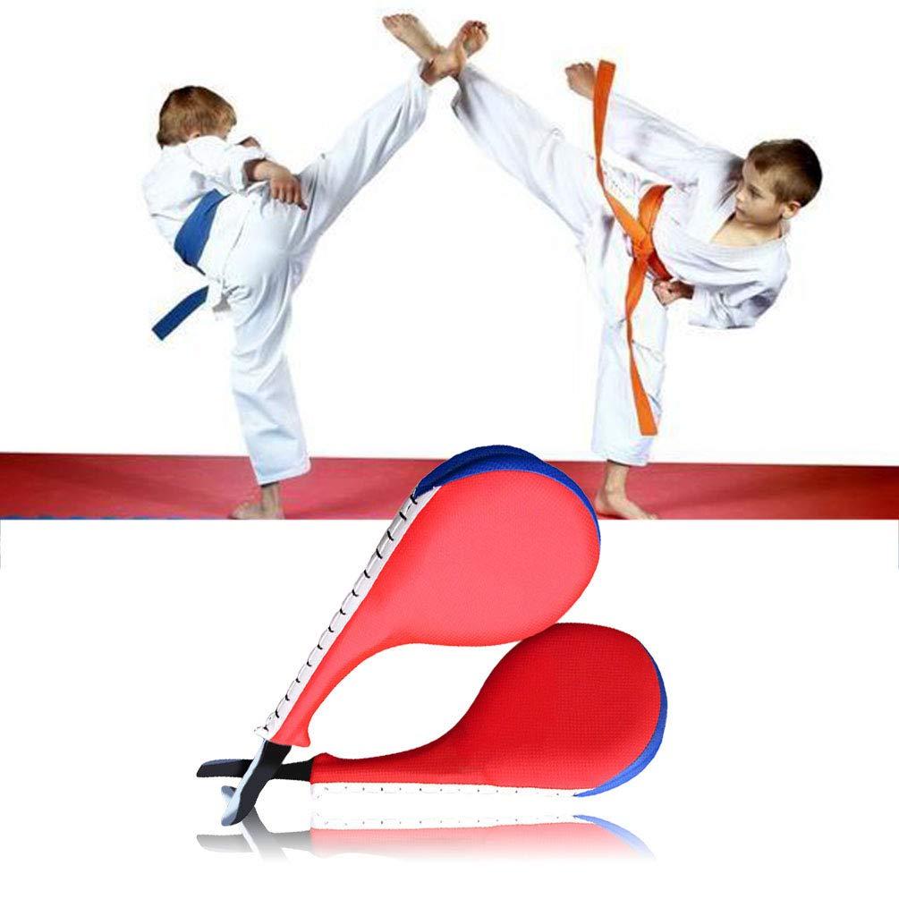 Keenso Almohadillas de Kickboxing Taekwondo Accesorios duraderos para Entrenamiento de Artes Marciales de Taekwondo Almohadillas de Kickboxing con Forma de Arco para el Pecho