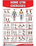Home Gym Exercises Laminated Poster/Chart