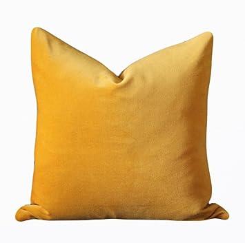 Surprising Amazon Com Tian Tang Niao 18X18 Gold Yellow Velvet Throw Inzonedesignstudio Interior Chair Design Inzonedesignstudiocom