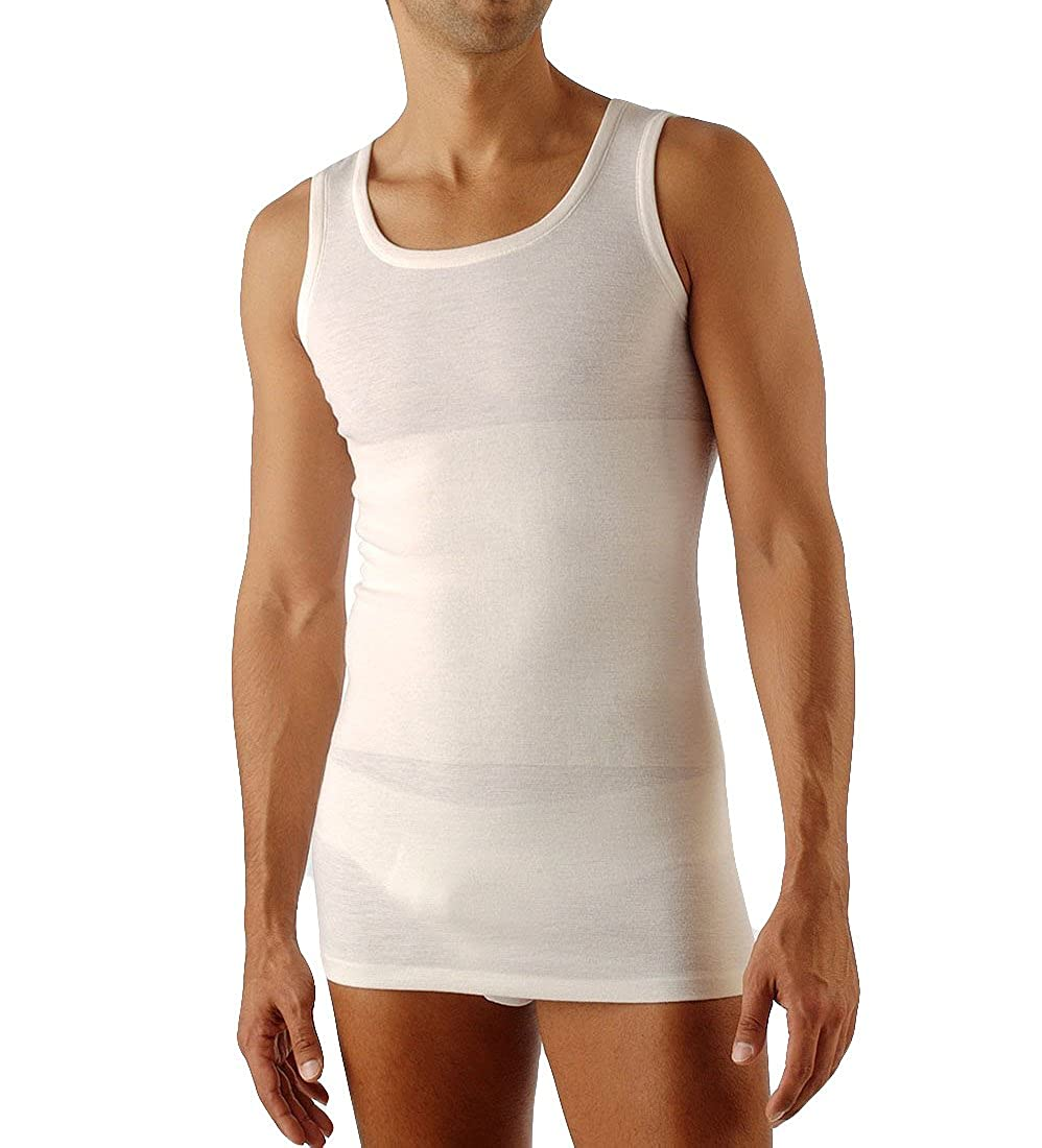 Relaxsan Ortopedica 1300 Men's Merino Wool and Cotton Sleeveless Thermal Vest with Back Support