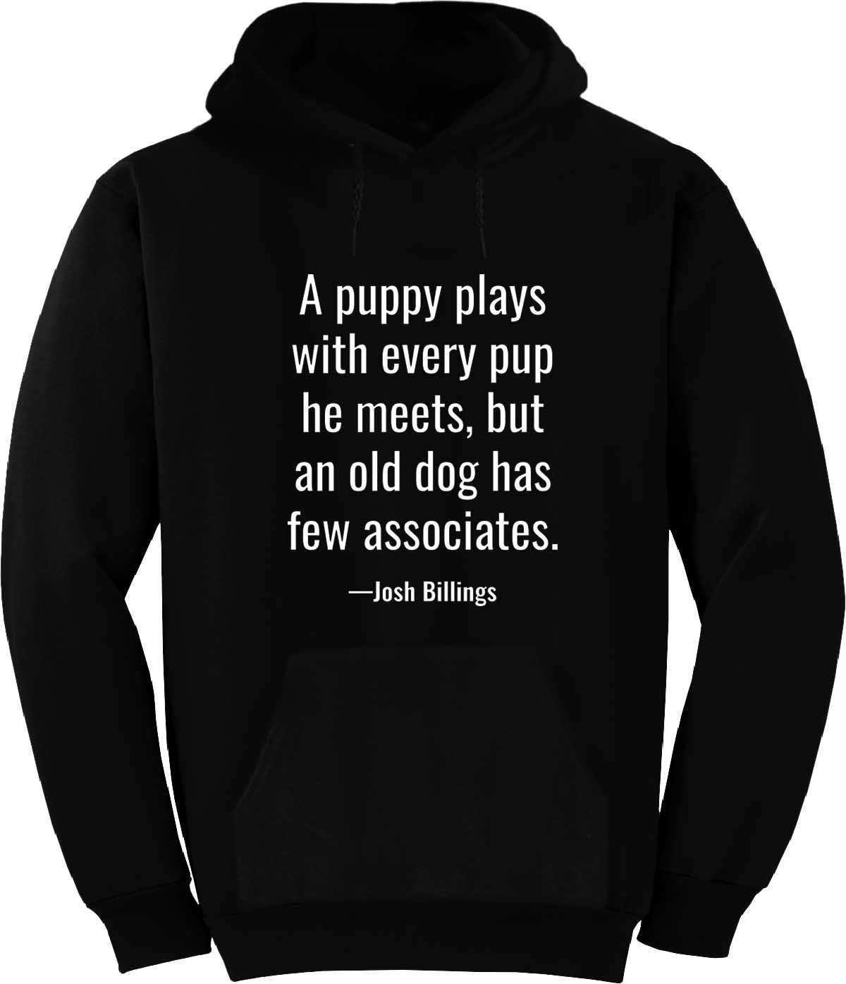 A Puppy Plays with Every pup he Meets, Hoodie Black