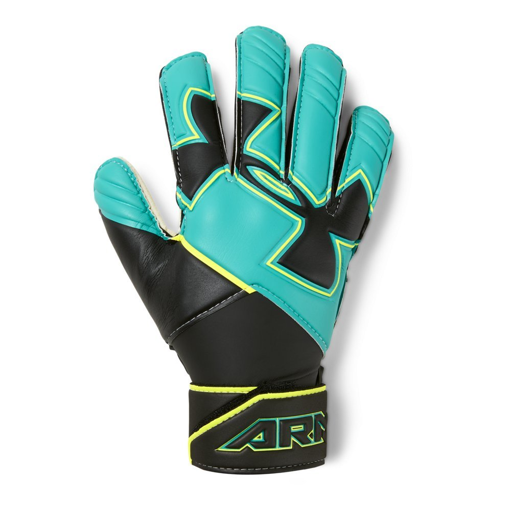 Under Armour Boys' Youth Desafio Soccer Gloves, Teal Punch (594)/Black, 4
