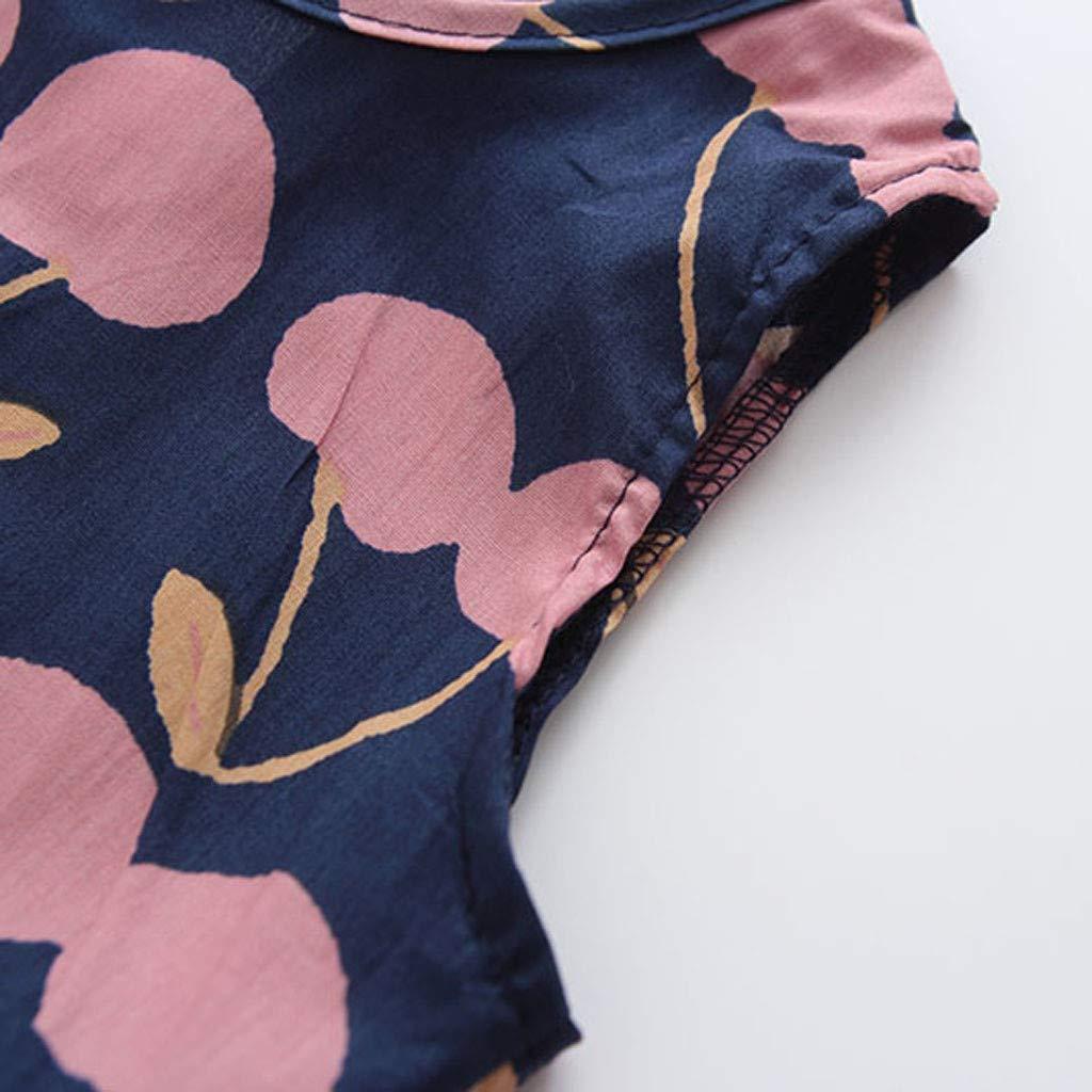 Baby M/ädchen Fruchtdruck Patchwork Gekr/äuselt Tops T-Shirt und Hose Outfits Set