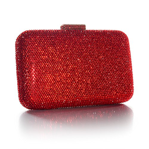 Wedding for Bag Prom DMIX Crystal Bridal Large Clutch Womens Evening Red Party 464wnCqX