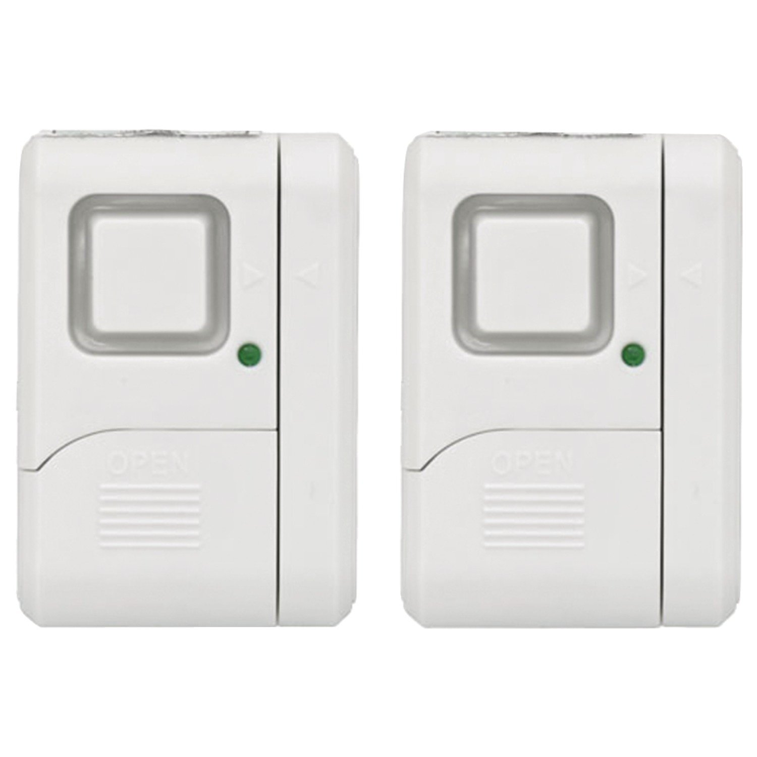 GE Personal Security Window Door Alarm 2 Pack DIY Home Protection Burglar Alert Wireless Alarm Off Chime Alarm Easy Installation Ideal for Home Garage Apartment Dorm RV and Office 45115