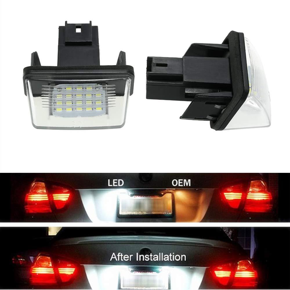 HUAYIN brillante Luz de la matr/ícula del coche 6000K llev/ó la luz de la matr/ícula Car licence plate light
