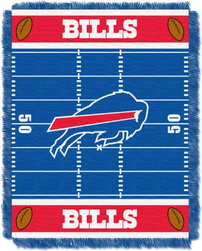 - The Northwest Company Officially Licensed NFL Buffalo Bills Field Bear Woven Jacquard Baby Throw Blanket, 36