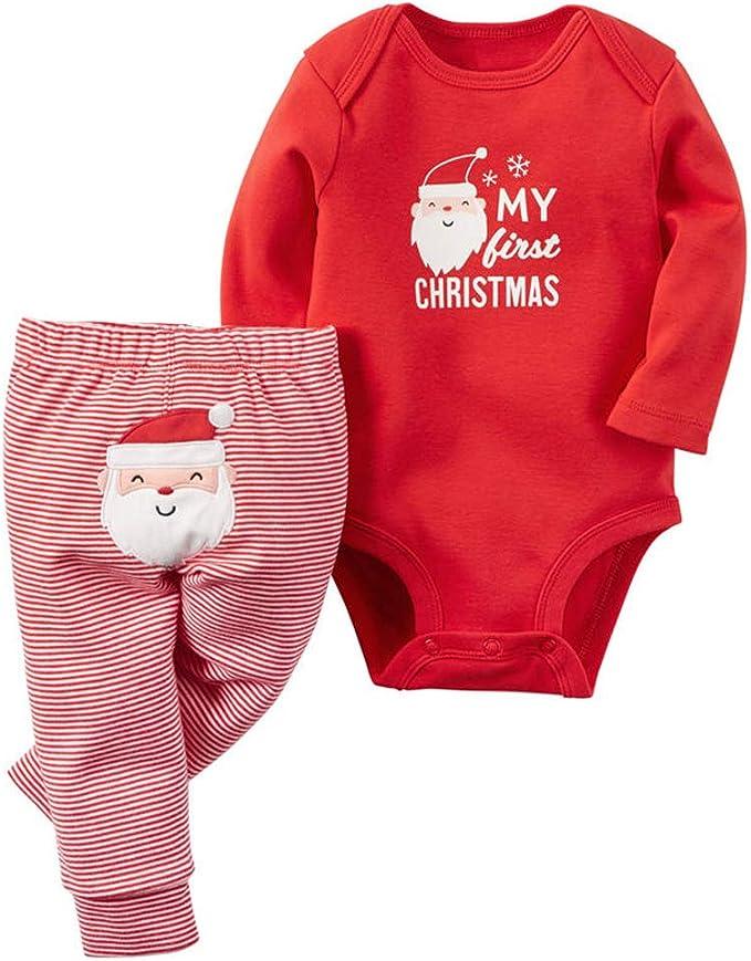 Amazon.com: Bebé recién nacido Mi primera Navidad overol y ...