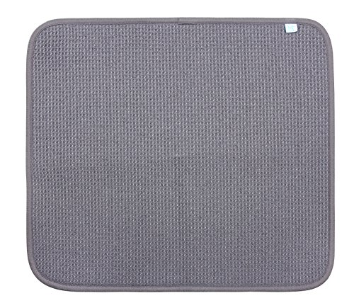 DRI Kitchen Dish Drying Mat Large in Grey 2 Pack