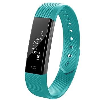 Bracelet Intelligent, Rubility® ID115 Montre Intelligente Bluetooth 4.0 avec Moniteur de Fréquence Cardiaque Pédomètre Montre Connectée ...
