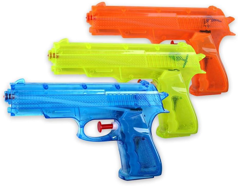 Schramm® de 3 Piezas clásica ca. 17cm Pistolas de Agua Pistola de ...