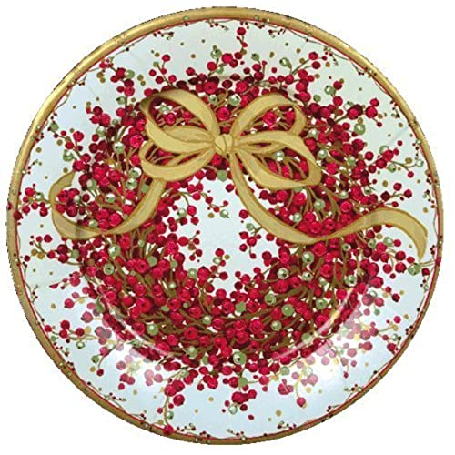 christmas plates christmas paper plates christmas party supplies dessert plates 8 pepperberry 16 pc - Decorative Christmas Plates