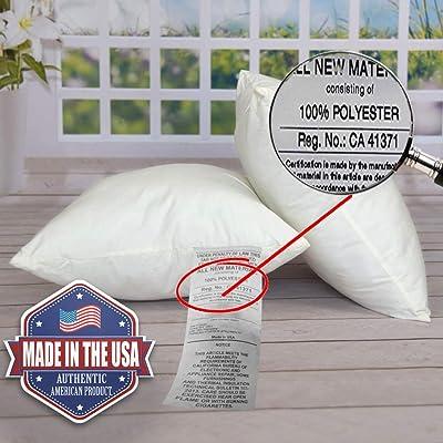 """Set of 3-24x24/"""" Pillow Insert Throw Pillow Decorative Euro Sham Insert Form"""