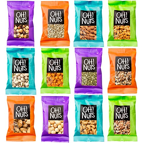 Mixed Nuts and Seeds 12 Variety Snack Bags, Freshly Roasted Snack Serving Size Grab and Go Pack – Oh! Nuts