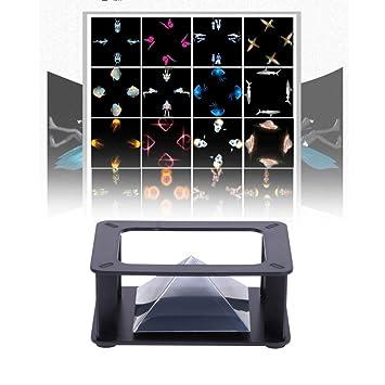 FafSgwq 3.5-6in Teléfono Móvil Inteligente 3D Holograma Pirámide ...