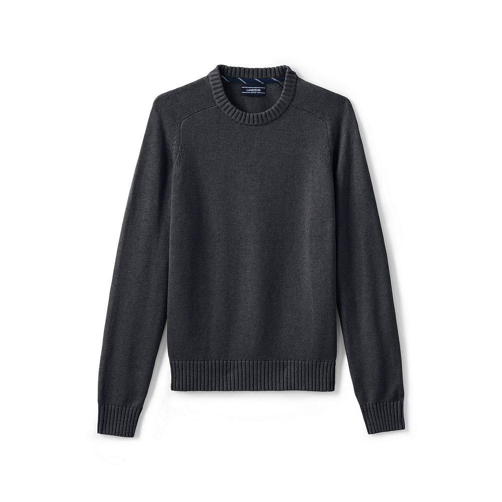 Lands' End Men's Drifter Cotton Crewneck Sweater classic