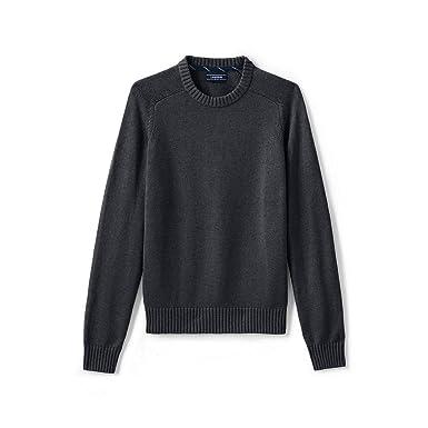671d5b48e6 Lands  End Men s Tall Drifter Cotton Crewneck Sweater
