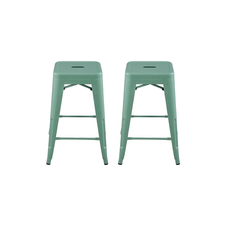 Fine Amazon Com Carlisle 24 Metal Counter Stool Mint Green Creativecarmelina Interior Chair Design Creativecarmelinacom