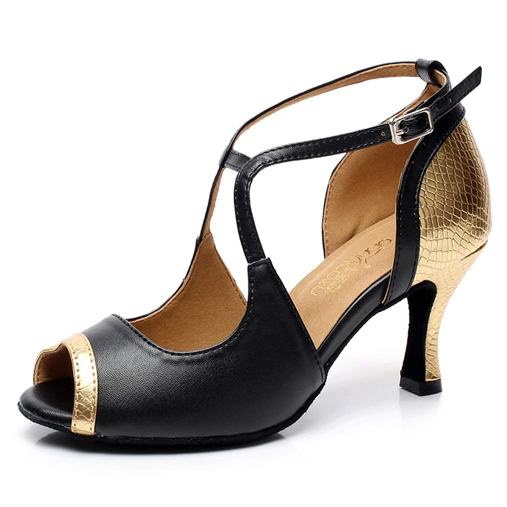 noir US6.5-7 EU37 UK4.5-5 Chaussures De Danse Latine Femme Chaussures Femme Chaussure Danse Femme Danse Chaussures Fille