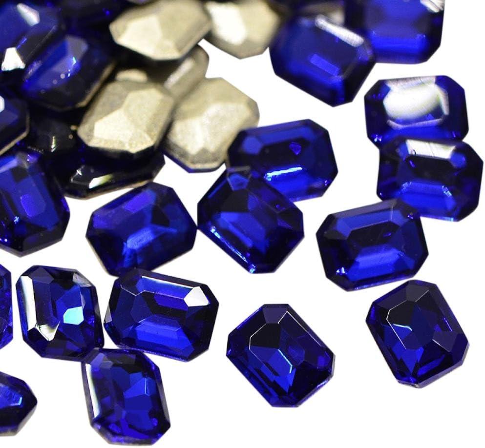 8x6x3.2 mm; sobre 36 PC//Bolso Espalda Plateada Azul PandaHall Precio del 1 Bolsa Cristal facetado rect/¨/¢ngulo Imitaci/¨/®n de cabujones de Diamante de Imitaci/¨/®n