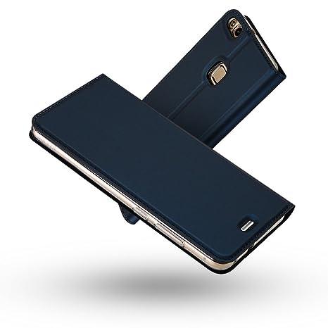 Radoo Funda Huawei P10 Lite, Slim Case de Estilo Billetera Carcasa Libro de Cuero,PU Leather con TPU Silicona Case Interna Suave [Función ...