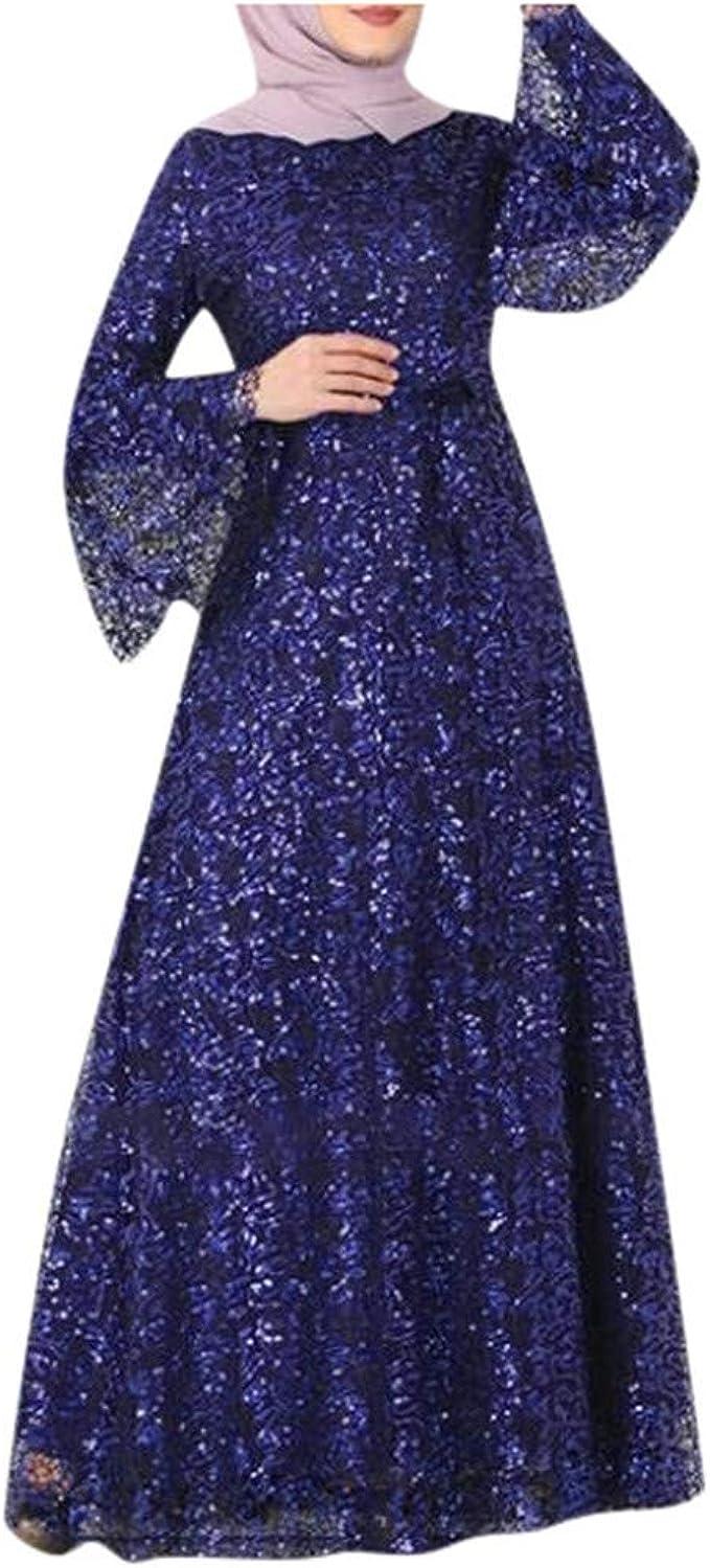 Abaya mit Glitzer Pailletten Muslim Damen Muslimische Kleider
