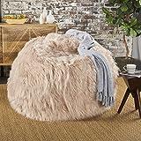 Lycus Faux Fur Bean Bag Chair (Pastel Pink)