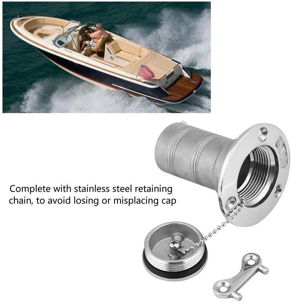 HGY Dellimbarcazione Marine Acciaio Inossidabile Gas del combustibile Serbatoio Olio Deck Fill Filler Port Chiave