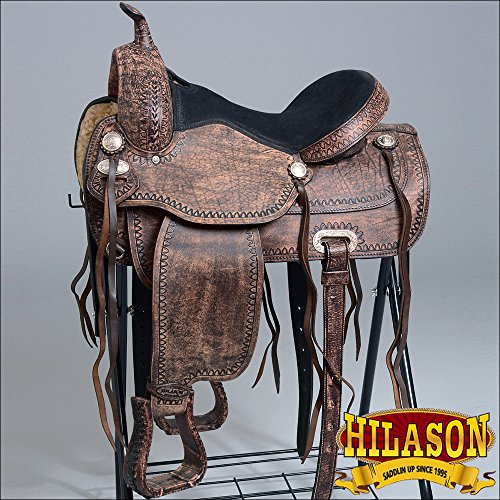 HILASON FLEX-TREE TRAIL PLEASURE ENDURANCE WESTERN LEATHER HORSE