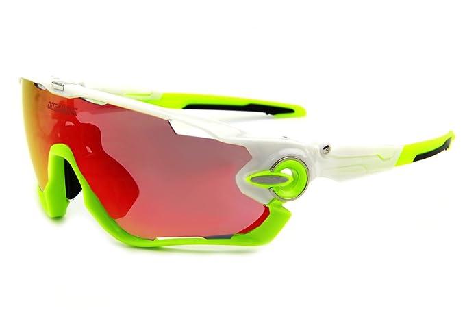 Queshark TR90 marco polarizadas ciclismo gafas de sol para hombres mujeres deportes 3 lente