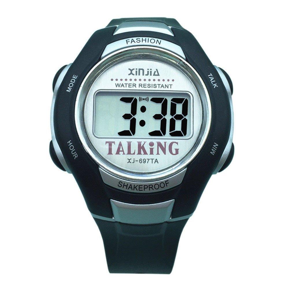 Árabe reloj parlante digitale negro con alarma de precaución hora para ciego y las personas baja visión