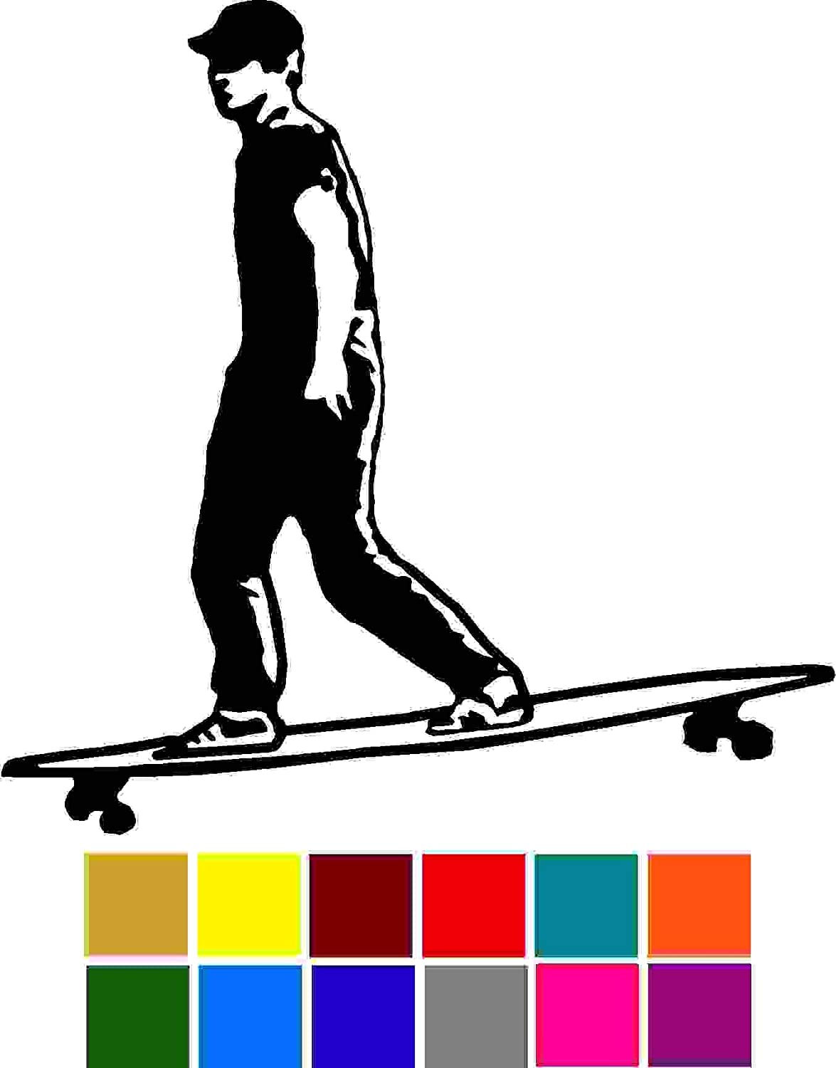 Sports Longboard Decal Choose Color V and T Gifts