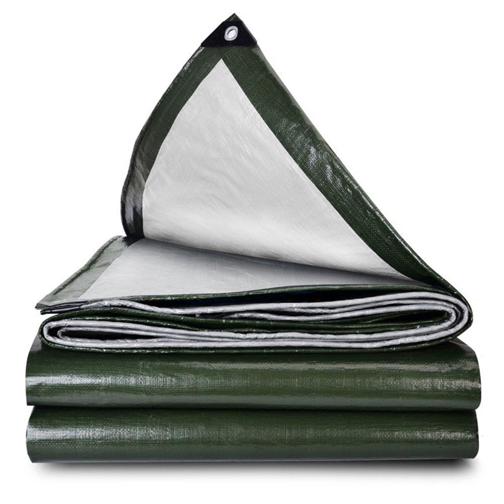 CHAOXIANG オーニング 折りたたみ可能 厚い 両面 防水 耐高温性 日焼け止め 耐寒性 耐摩耗性 耐食性 防塵の PE 緑、 180g/m 2、 厚さ 0.38mm、 23サイズ (色 : 緑, サイズ さいず : 3x5m) B07DB84BMF 3x5m|緑 緑 3x5m