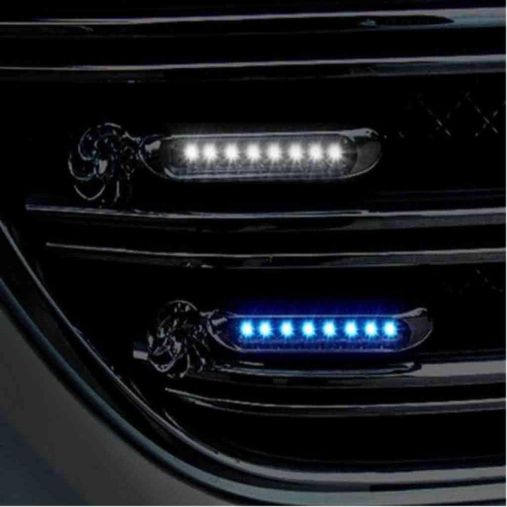 Jamicy/® Vent Powered LED Voiture Exterieur /Éolienne L/ég/ère 8 LED LED Voiture Exterieur Couleur Voiture D/éClairage Diurne DRL Brouillard DAvertissement Automatique Lampe Frontale