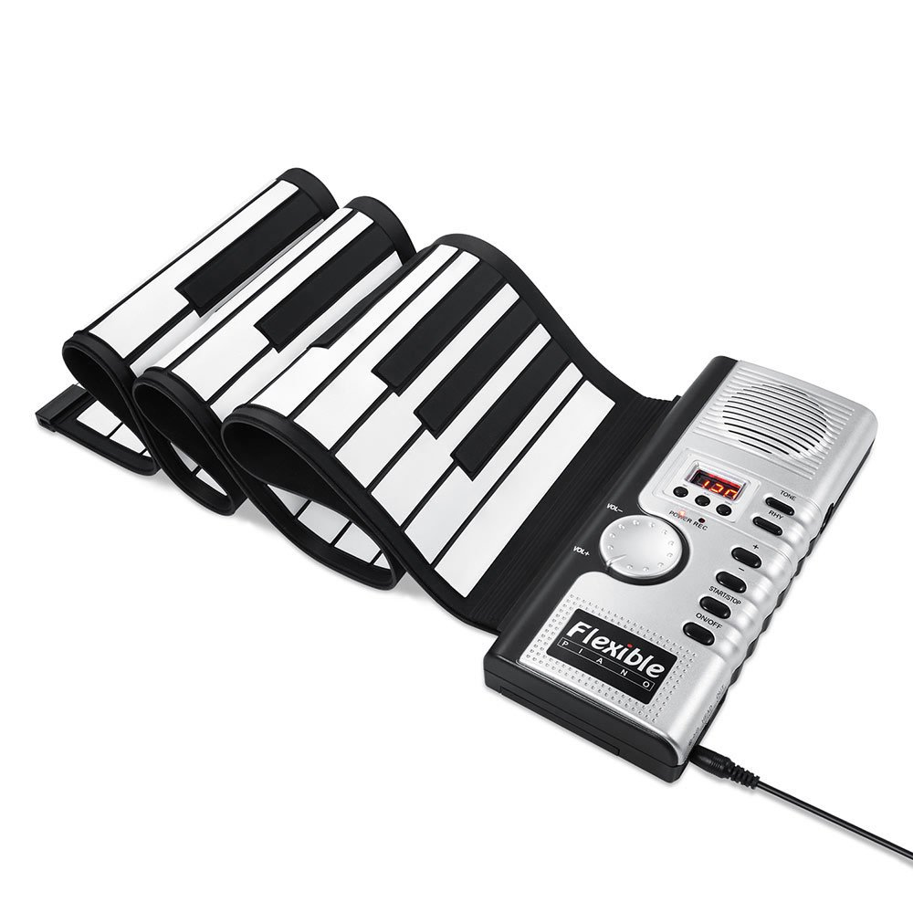 New Upgraded ALWOA Roll Up Keyboard Piano, 4 Modes 61 Keys Portable Piano Electric Digital Musical Educational Instruments Perfect Gift for Kids Children
