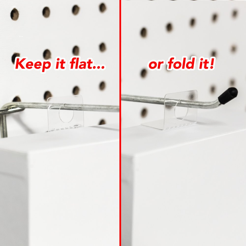 Hanging Display Tabs with Adhesive, Round Hole Peel and Stick Plastic Hang Tabs for Retail, Foldable, 500 Pieces