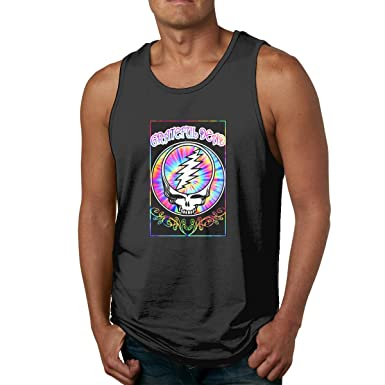 5d20b4db Hughhd Kirkid Men's Tank Top T-Shirt Grateful-Dead-Steal-Your-Face-Fashion  Athletic Sleeveless Muscle T-Shirts at Amazon Men's Clothing store: