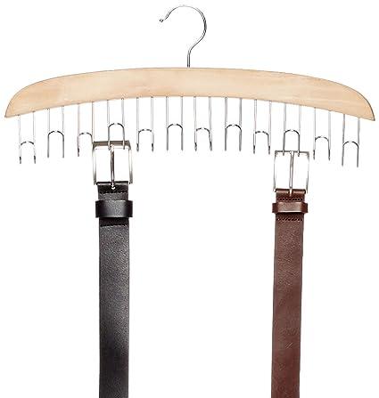 AmazonBasics - Colgador de madera para cinturones: Amazon.es ...