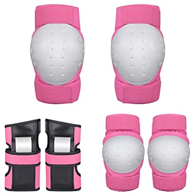 LIOOBO Kids Knee Pads Toddler Elbow Pads Wrist Guards Protective Gear Set for Inline Roller Skates Bike Scooter : Sports & Outdoors