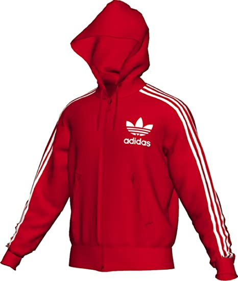 8cfe955c055b98 Amazon.com  adidas Men s adi Hooded Flock Track Top (Light Scarlet ...