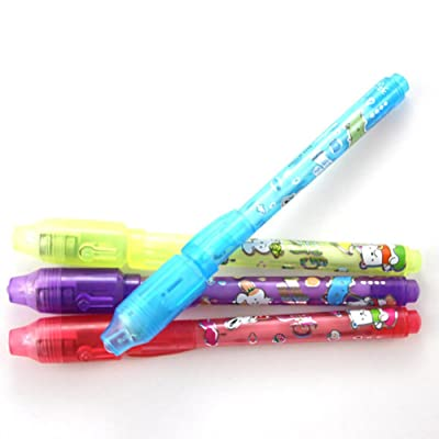 Finance Plan Creative Secret Message Invisible Ink Pen with UV Black Light Kid Student Gift School Supplies: Home & Kitchen